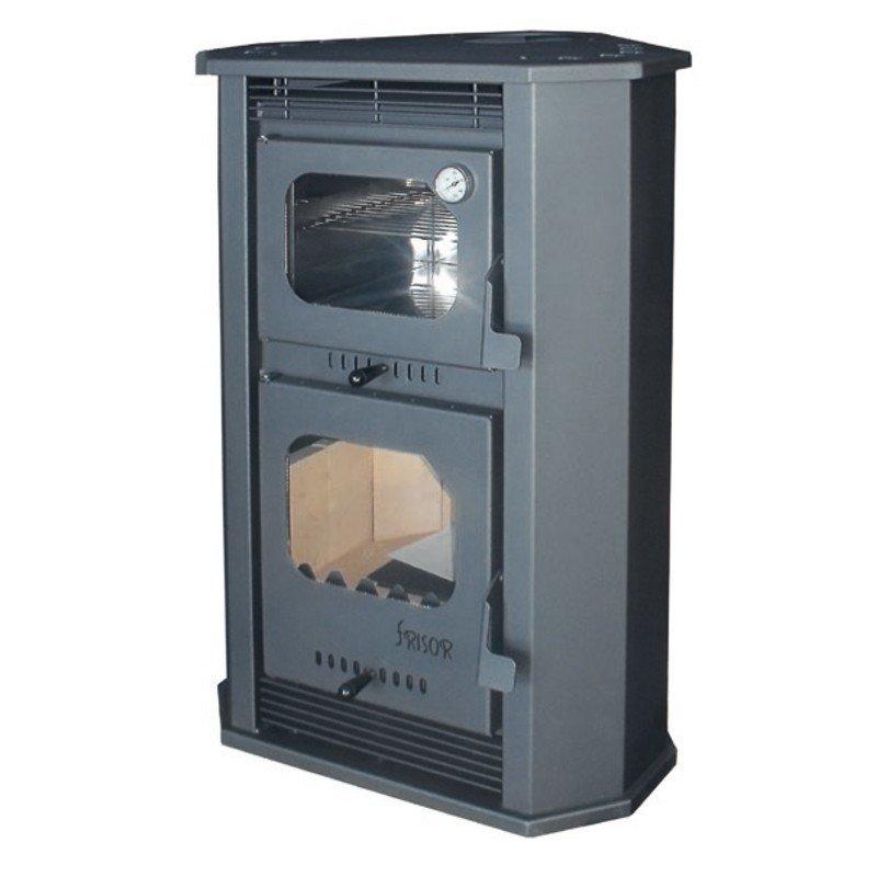 Estufa de le a madeira horno 12 2kw manacalor estufas for Estufa pellets con horno