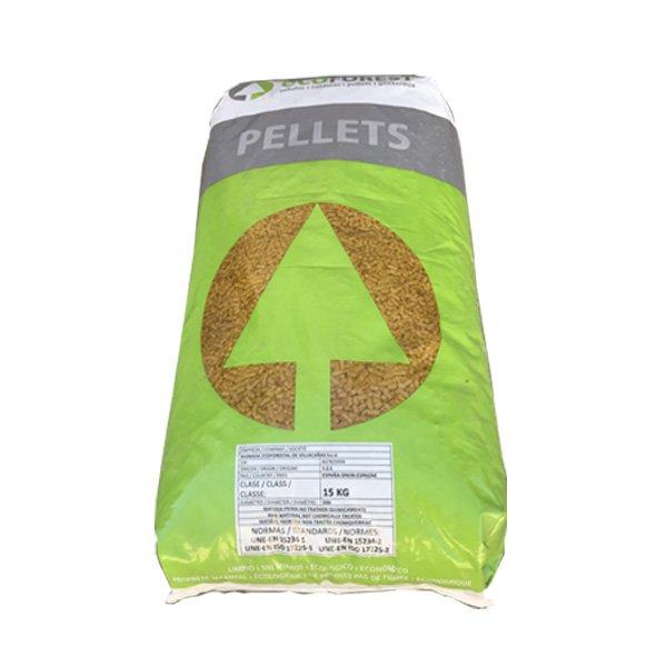 Saco pellet 15 kg manacalor estufas calderas pellets - Precio kilo pellets ...